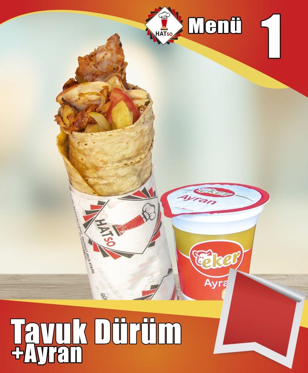 Menü-1 Tavuk Dürüm + Ayran